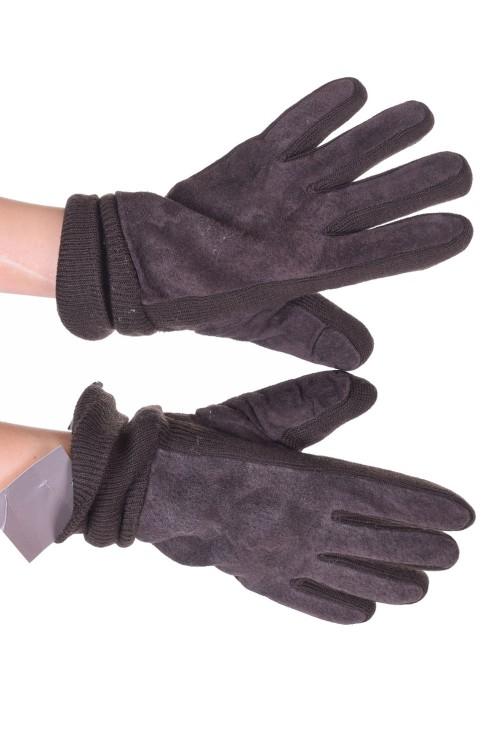 Mănuși din piele întoarsă din piele naturală 40.00