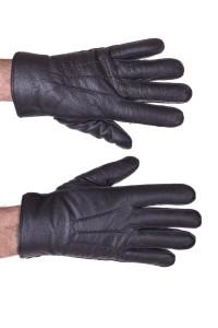 Mănuși negre piele