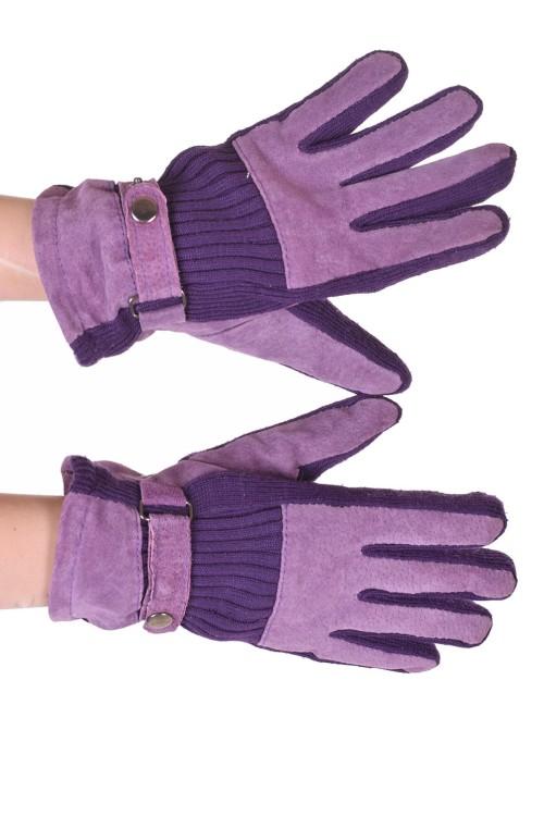Mănuși din piele întoarsă din piele naturală 30.00