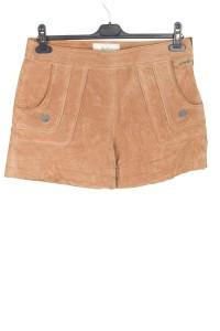 Pantaloni scurți de damă din piele naturală