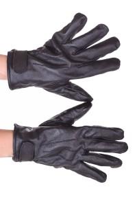 Mănuși de damă albastre piele