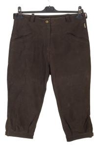 Pantalon de damă din piele întoarsă din piele naturală