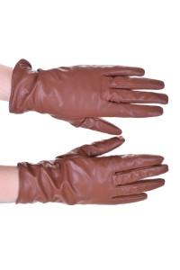 Mănuși albe din piele artificială