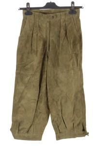 Pantalon de damă drăguț din piele întoarsă din piele naturală