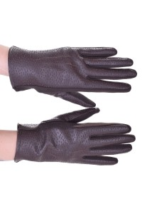 Mănuși negre din piele artificială