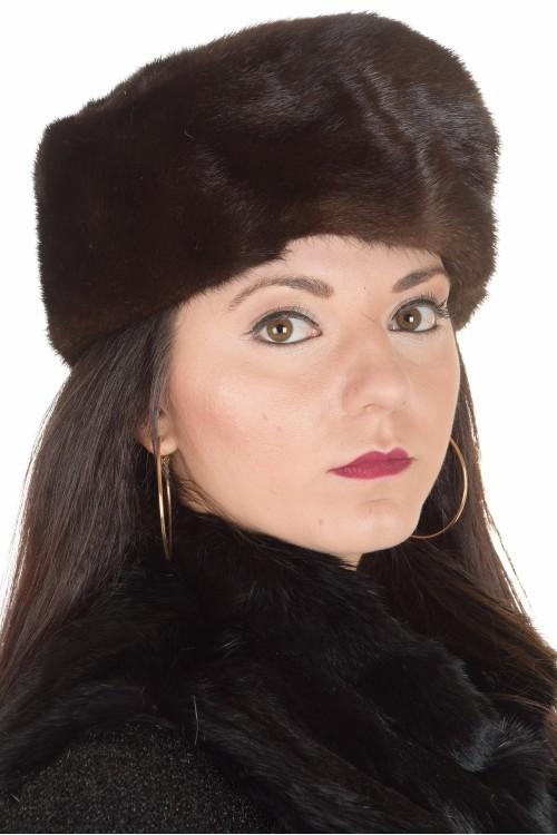 Pălărie de damă maro închis din nurcă 72.00