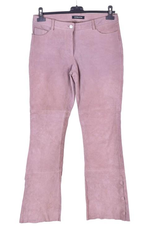 Pantalon din piele întoarsă din piele naturală 38.00