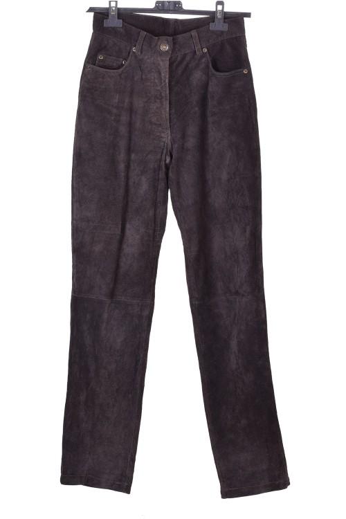 Pantalon de damă din piele întoarsă din piele naturală 38.00