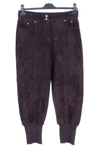 Pantalon de damă excelent din piele întoarsă