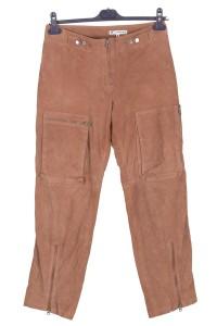 Pantalon din piele întoarsă din piele naturală