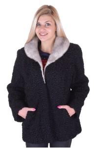 Palton de damă modern de astrahan