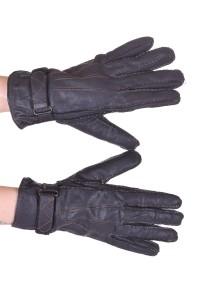 Mănuși negre din piele naturală