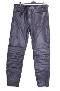 Pantalon de bărbați drăguț biker din piele naturală groasă și consistentă