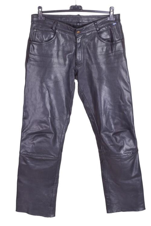 Pantalon de bărbați negru din piele naturală 227.00