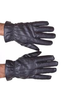 Mănuși de bărbați maro închis din piele artificială