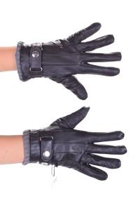 Mănuși de damă ordonate maro din piele naturală