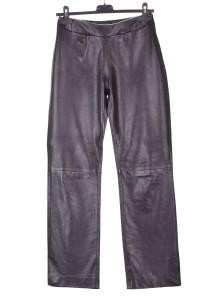 Pantalon de damă negru piele