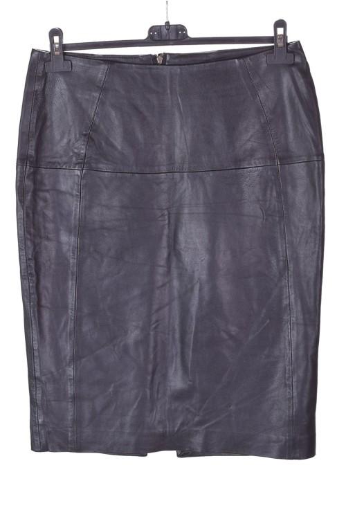Fustă de damă elegantă neagră din piele naturală 67.00