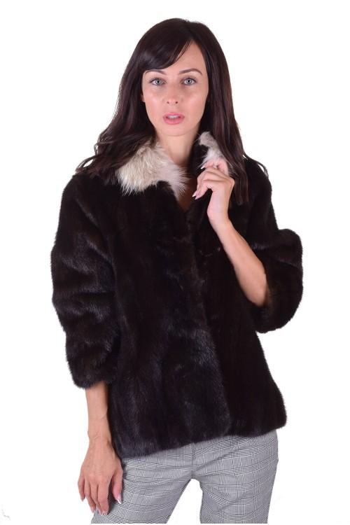 Palton de damă frumos negru din nurcă 719.00