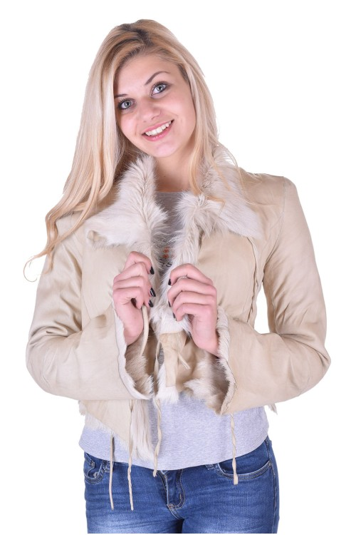 Palton de damă minunat maro dе blana naturala 63.00
