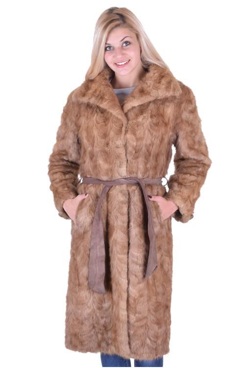 Palton de damă lung din nurcă 248.00