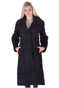 Palton de damă elegant de astrahan
