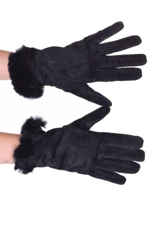 Mănuși de damă din piele întoarsă din piele naturală 20.00