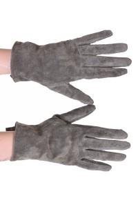 Mănuși frumoase negre din piele întoarsă din piele naturală