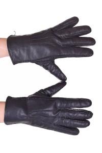 Mănuși gri din piele naturală