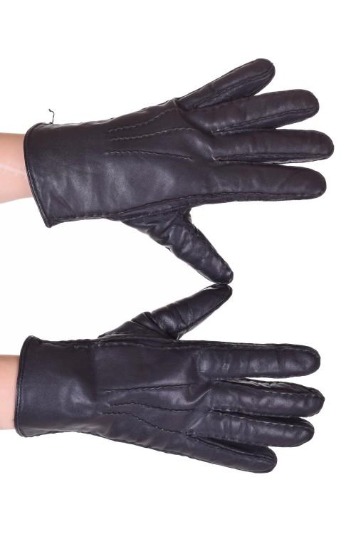 Mănuși gri din piele naturală 30.00