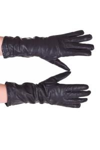 Mănuși de damă roșu închis piele