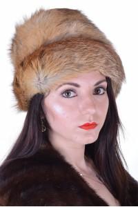 Pălărie de damă excelentă de vulpe