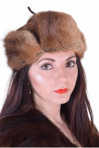 Pălărie de damă excelentă gri din bizam