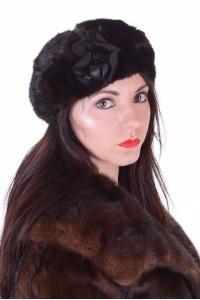 Pălărie de damă drăguță gri din nurcă