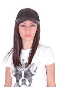 Pălărie de damă din piele artificială