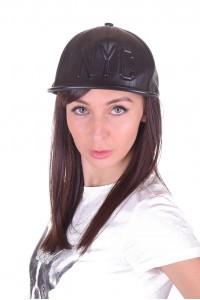 Pălărie de damă sportiva din piele artificială