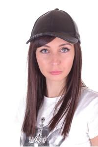 Pălărie neagră din piele artificială