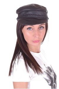 Pălărie de damă din piele naturală