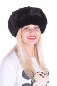 Pălărie de damă neagră dе blana naturala