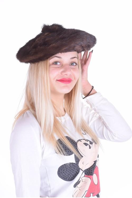 Pălărie de damă extravagantă dе blana naturala 63.00